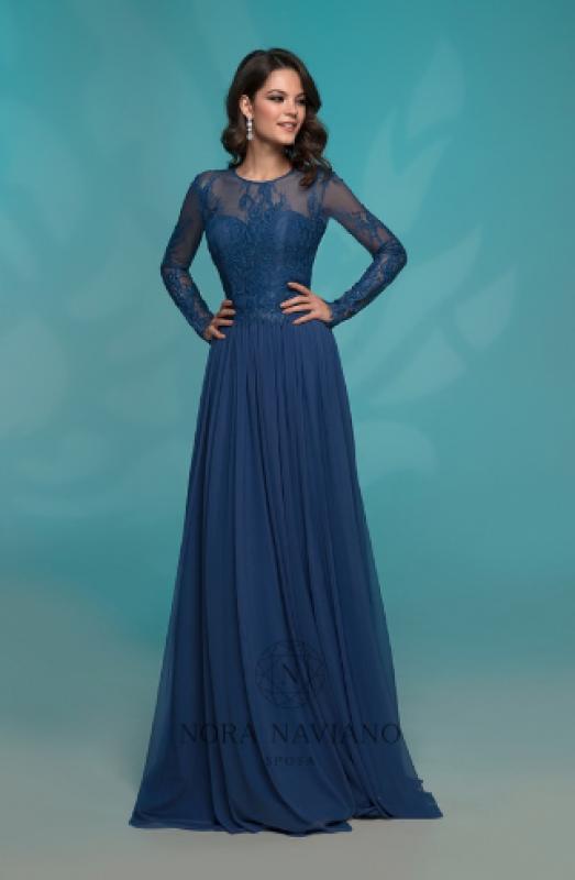 Вечернее платье 72762-1 BLUE