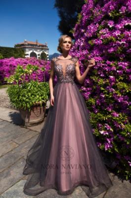 Вечернее платье 27001 GREY PINK