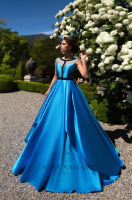 Вечернее платье 31095 TEAL BLACK