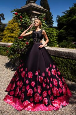 Вечернее платье 31098 BLACK RED