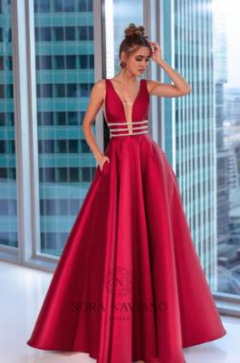 Вечернее платье 31438 WINE