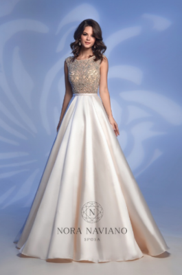 Вечернее платье 32362D IVORY