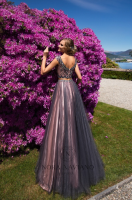 Вечернее платье 51040 GREY PINK